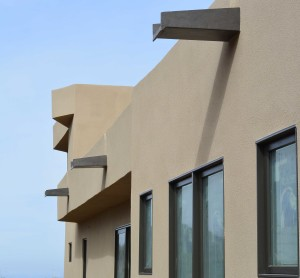 Weathered-Bronze-Contemporary-Sloped-Finished-Wall-PS1